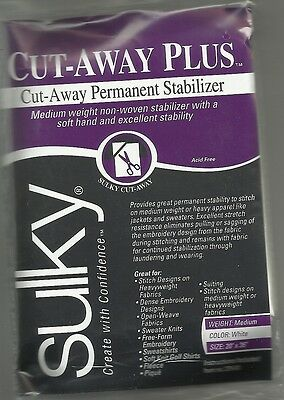 "Sulky Cut-Away Plus-  20""x 1 yard - A permanent mid-weight stabiliser"