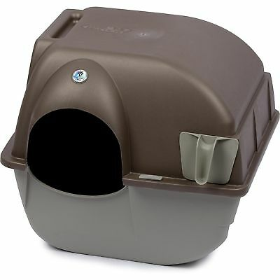 Omega Paw Self Cleaning Automatic Cat Litter Box Large Roll'n Kitty Pewter Scoop