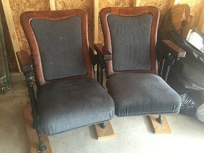 Antique Cast Iron Theater Seats Chairs - ANTIQUE CAST IRON Theater Seats Chairs - $125.00 PicClick