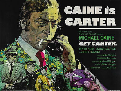 Home Wall Art Print - Vintage Movie Film Poster - GET CARTER - A4,A3,A2,A1