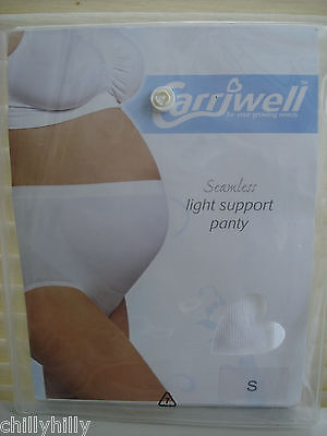 Carriwell Maternity Seamless Light Support Panty Black or White Size Small BNIP