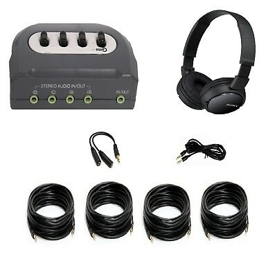 Paranormal Ghost Hunting Equipment 4-Room Real Time EVP Audio Review System Base