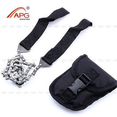 APG Portable Hand Pocket Chain Saw Tool Survival Chainsaw Gear Steel Camping Kit