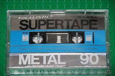 Realistic   Metal  90   Blank Cassette Tape (1)  44-961A    (Used)