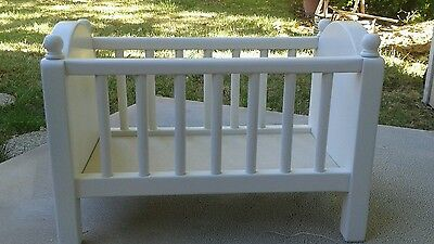 Hand Made Doll Crib.solid Pine Made In U.s.a. Finished In Heirloom White
