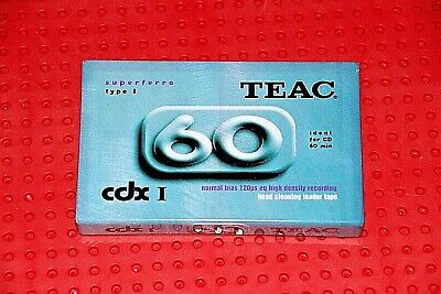 Teac  Cdx  I  60    Blank Cassette Tape  (1)     (Sealed)