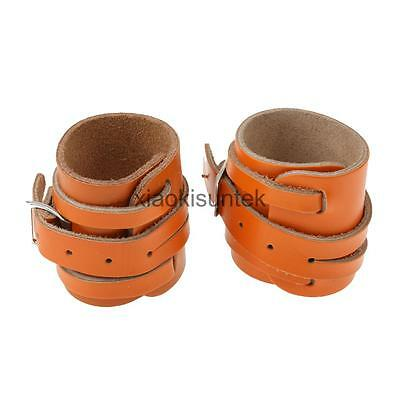 1 Pair Leather Weightlifting Wrist Support Adjustable Training Wrist Wraps