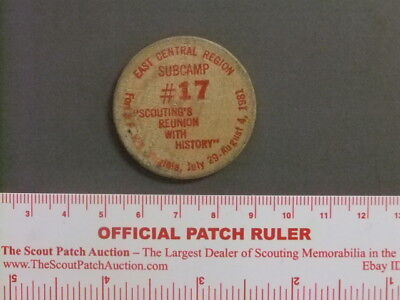 Boy Scout National Jamboree '81 East Central Token 9574W