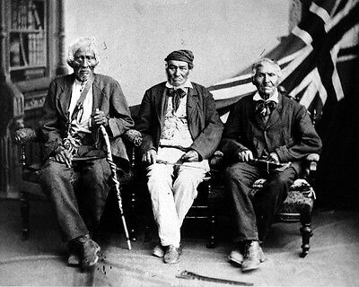New 11x14 Photo: Last Surviving Six Nations Veterans of the War of 1812
