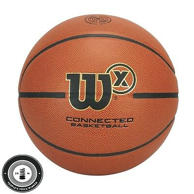 "Wilson X Connected Indoor / Outdoor Basketball 29.5"" with iPhone Android App"