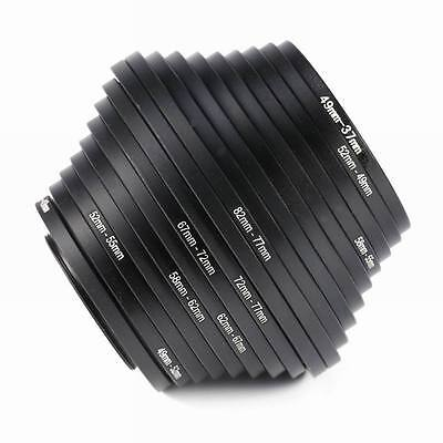 18x Camera Lens Filter Adapter 37 49 52 55 58 62 67 72 77 82mm Step Up Down Ring