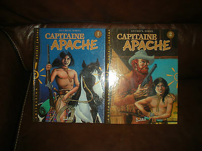 Capitaine Apache - Lot Des 2 Tomes Editions Soleil 1995 - Lecureux / Norma