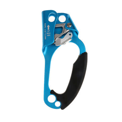 Outdoor Rock Climbing Tree Carving RIGHT HAND ASCENDER for 8-12MM Rope Blue