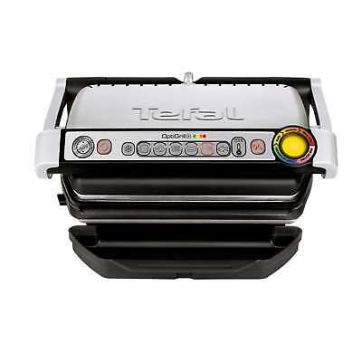 Tefal GC713D40 2000 Watts 4 Portions OptiGrill & Health Grill in Stainless Steel