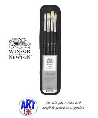 Winsor & Newton Professional ARTISTS HOG Oil Colour Paint Brush Set Long Handle