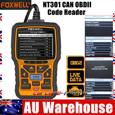 Foxwell NT301 Car Engine Fault Diagnostic Scanner Auto OBD2 CAN DTC Code Reader