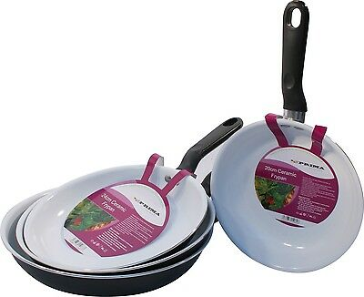 Ceramic Coated Bakeware Frying Pan Non Stick Cooking Surface Frypan Kitchen New