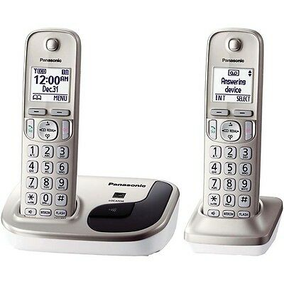 Panasonic DECT 6.0 Expandable Digital Cordless Phone with 2 Handsets  KX-TGD212N