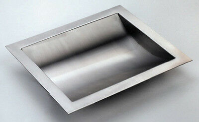 "Stainless Steel Drop-In Deal Tray, Brushed Finish, 16"" (w) x 10"" (d)"