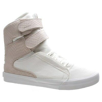Supra Shoes. Supra Mens Shoes. Society II White/White Canvas Shoe £20 OFF RRP
