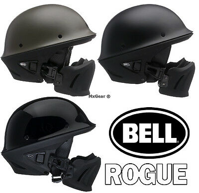 (Free fedex 2 day) (Ships within 1 day) Bell Rogue Motorcycle Half Helmet