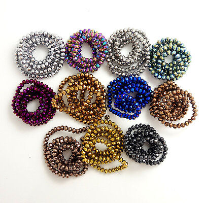 Wholesale Rondelle Faceted Crystal Glass Loose Spacer Beads DIY 3mm/4mm/6mm/8mm