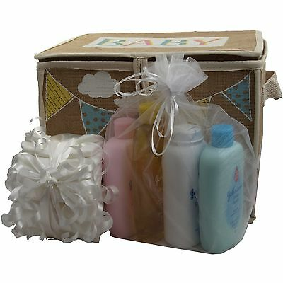 Baby nursery box/hamper packed with Johnsons/nappies unisex boy girl unique gift