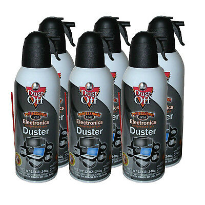 6-Pack Falcon Dust-Off XL 12 oz. Compressed Air Gas Duster Cans