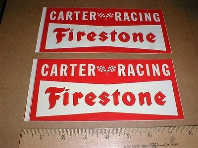 Pancho Carter Firestone Eagle USAC Crown series INDY 1974 racing decal stickers