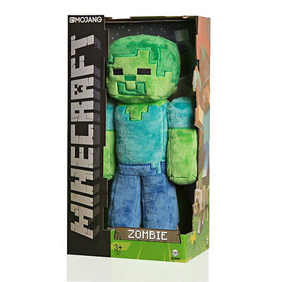 """Minecraft 12"""" Zombie Plush - Official Mojang Video Game Xbox PlayStation Toy"""