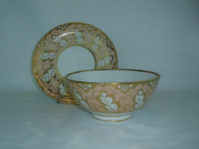 Worcester Flight Barr and Barr Early 19th Century Waste Bowl and Plate