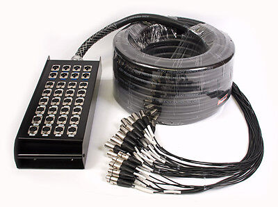 Multicore Cable w/ Stage Box - 32 Channel 8 Returns 30m