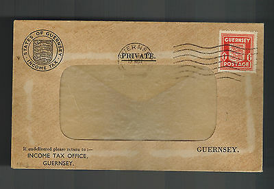 1943 Guernsey England Channel Islands Occupation Window Cover Income tax Office