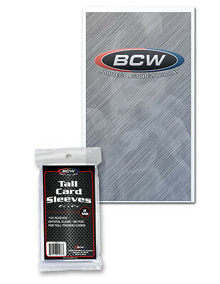 20,000 (2 Cases) Bcw Tall / Widevision / Gameday Trading Card Soft Poly Sleeves