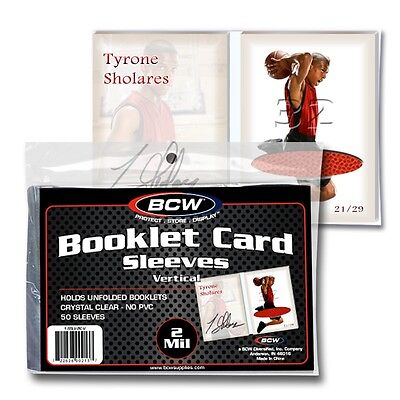 20,000 Bcw Vertical Booklet Trading Card 2 Mil Acid Free Soft Poly Sleeves