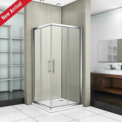 2000mm Corner Entry Shower Enclosure 8mm Easyclean Glass Door Cubicle Stone Tray