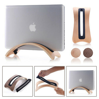 New Wood Arc Shape Stand PAD Holder Mount For Macbook Pro Laptop---Light Brown