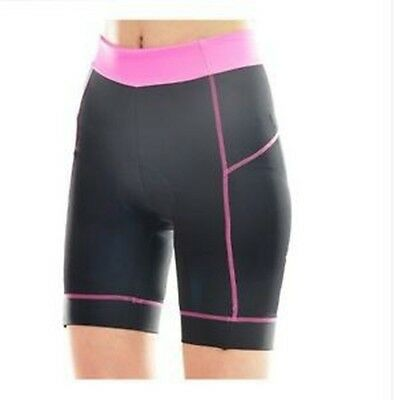 Women Cycling Clothing Bike Bicycle 3D Silicone Padded Shorts Pants S-XL Pink