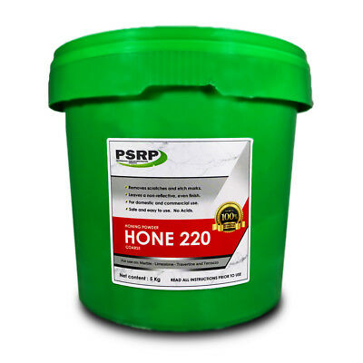 PSRP Hone 220Grit 5KG Honing / Cleaning Powder for Travertine, Marble, Limestone