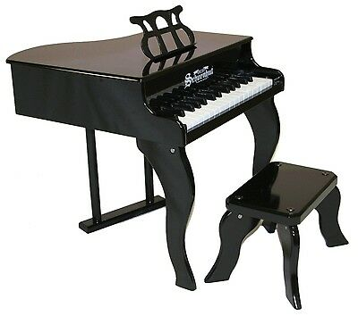NEW Schoenhut Black Baby Grand Piano Childrens Toy 30 Keys & Learning System