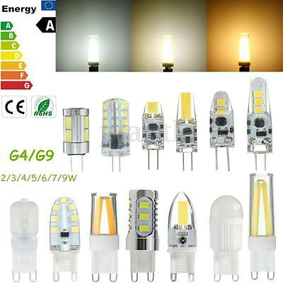 G4 G9 2/3/4/5/6/7/9W Dimmable SMD/COB LED Corn Light Bulb Silicone Crystal Lamp