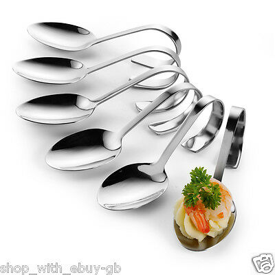 6 First Course Serving Spoons - Appetizer Canape Dish Spoon, Amuse Bouche Tapas