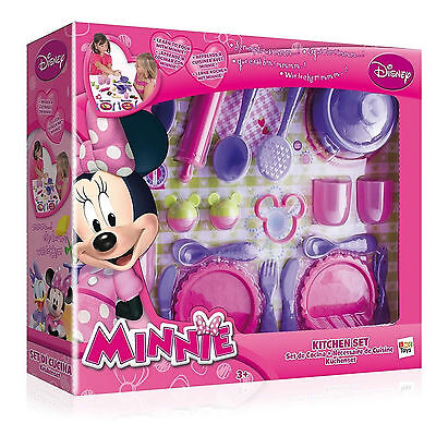 Disney Minnie Mouse Kitchen Set Cooking Dinner Cookery Childs Toy New Boxed