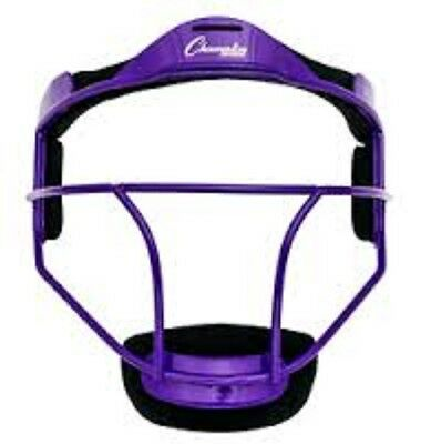 New Champion FMYPR Softball Youth  Pitcher Fielders Face Mask Wide Vision Purple