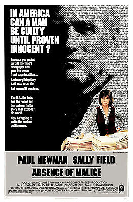 The Absence Of Malice.. Robert Newman Classic Movie Poster A1A2A3A4Sizes