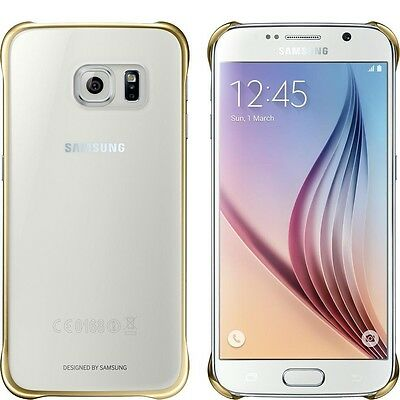 Samsung EF-QG920BFEGUS Protective Cover For Sams Gal S6 Clear Gold New Retail