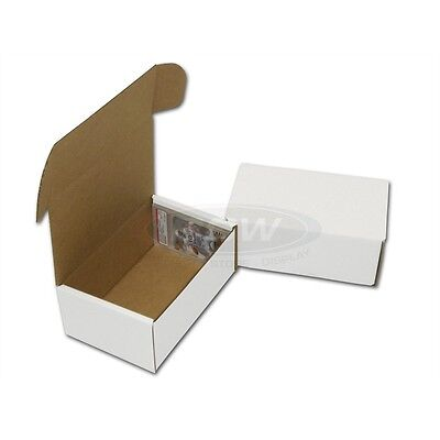Lot of 50 BCW Corrugated Cardboard Graded Baseball Trading Card Boxes