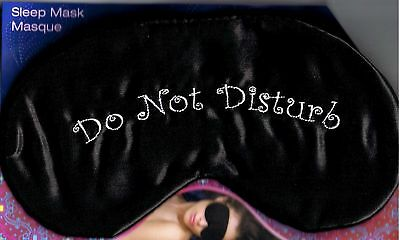 Do Not Disturb - Black Satin Sleep Mask - New - Great For Migraine Sufferers