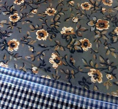 Longaberger Rev. PLACEMATS Set of 4 KHAKI CHECK & KHAKI FLORAL - New & on Hand!
