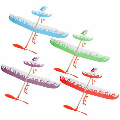 1PC Glider Rubber Band Elastic Powered Flying Plane Airplane Fun Model Kids Toy